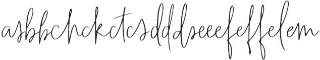 Wanderlust Script Liga1 otf (400) Font UPPERCASE