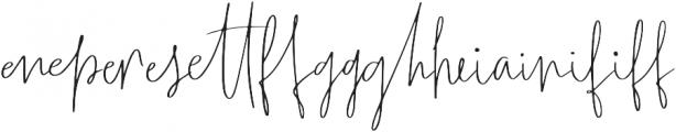 Wanderlust Script Liga1 otf (400) Font LOWERCASE
