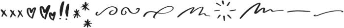 Wanderlust Script Symbols otf (400) Font UPPERCASE