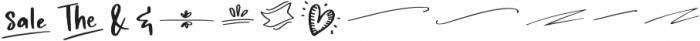 Wanderlust Script Symbols otf (400) Font LOWERCASE