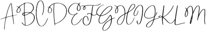 Wanderlust Script otf (400) Font UPPERCASE