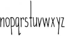Wanderlust otf (400) Font LOWERCASE