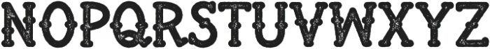 War Club Textured ttf (400) Font UPPERCASE