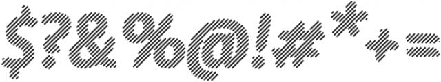 Warka Stripes otf (400) Font OTHER CHARS
