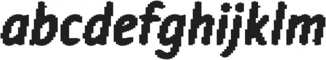 Warka blocks otf (400) Font LOWERCASE
