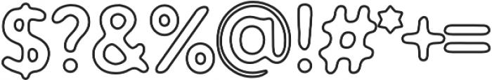 Warlow Slab Outline otf (400) Font OTHER CHARS