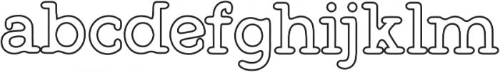 Warlow Slab Outline otf (400) Font LOWERCASE