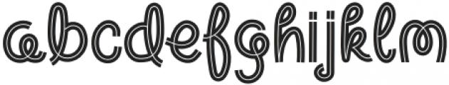 Warm Noodles Line Regular otf (400) Font LOWERCASE