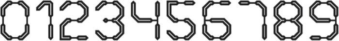 Warp Drive Inline otf (400) Font OTHER CHARS