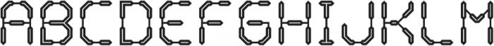 Warp Drive Inline otf (400) Font LOWERCASE
