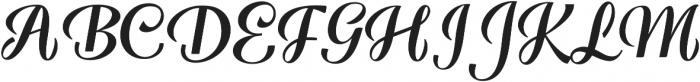 Warrior Script Regular ttf (400) Font UPPERCASE
