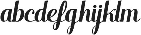 Warrior Script Regular ttf (400) Font LOWERCASE