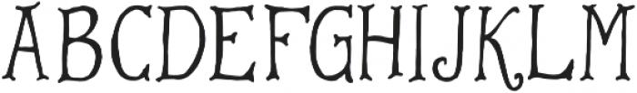 Warrior otf (400) Font LOWERCASE