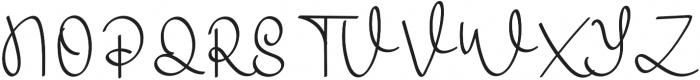 Warsini Regular otf (400) Font UPPERCASE