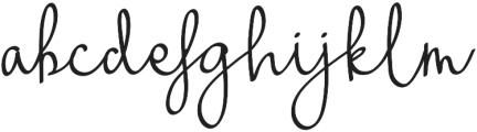 Warsini Regular otf (400) Font LOWERCASE