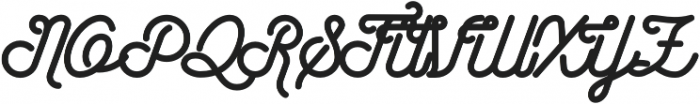 Wasted otf (400) Font UPPERCASE