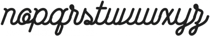 Wasted otf (400) Font LOWERCASE