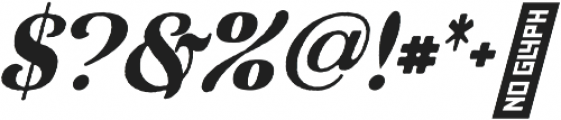 Waysider Rough Oblique otf (400) Font OTHER CHARS