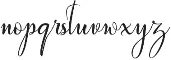 wallows otf (400) Font LOWERCASE