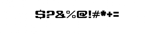 WARRIOR Font OTHER CHARS