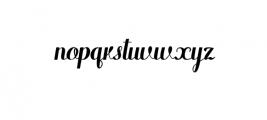 WarriorFont.ttf Font LOWERCASE
