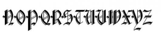 Waldorf Monograms Bold Font UPPERCASE