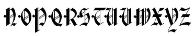 Waldorf Text Black Font UPPERCASE