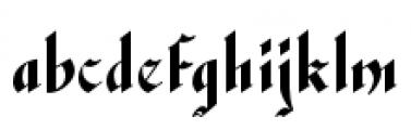 Waldorf Text Black Font LOWERCASE