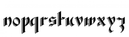 Waldorf Text Bold Font LOWERCASE
