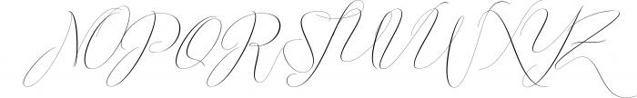 Washington Calligraphy Modern Font UPPERCASE