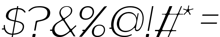 WABECO Thin Italic Font OTHER CHARS