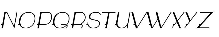 WABECO Thin Italic Font UPPERCASE