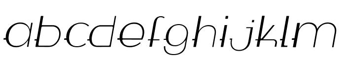 WABECO Thin Italic Font LOWERCASE