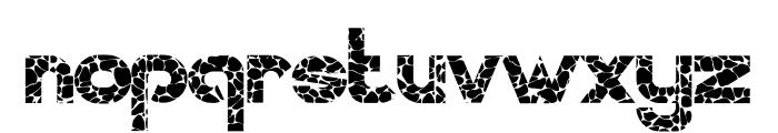 WALLSTONES-Regular Font LOWERCASE