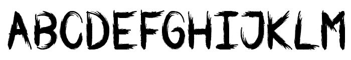 WAR BRUSH Font UPPERCASE