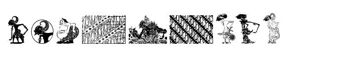 WAYANG of JAVA Font LOWERCASE