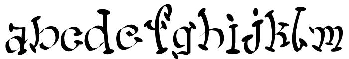 Wacko Font LOWERCASE