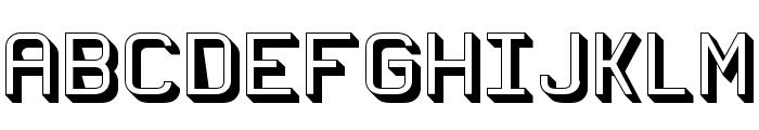 Wagon Sans Shaded Font UPPERCASE
