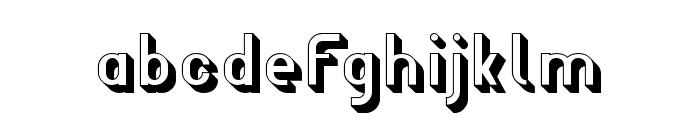 Wagon Sans Shaded Font LOWERCASE