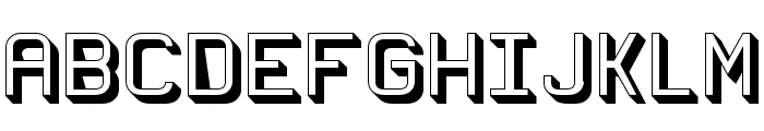 Wagon Sans Two Shaded Font UPPERCASE