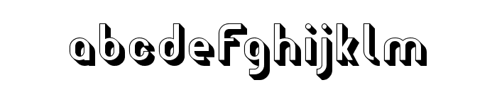 Wagon Sans Two Shaded Font LOWERCASE