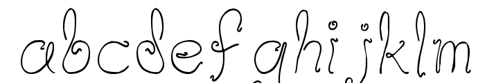 Waif Thin Font LOWERCASE