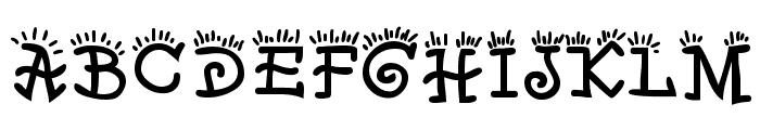 Waker Font UPPERCASE