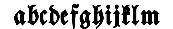 Walbaum-Fraktur-Bold Font LOWERCASE