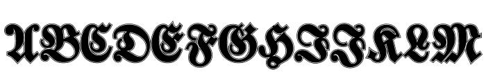 Walbaum-Fraktur Inline Bold Font UPPERCASE