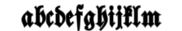 Walbaum-Fraktur Inline Bold Font LOWERCASE