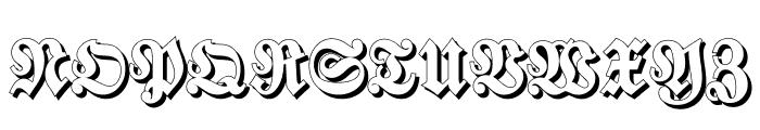 Walbaum-Fraktur Shadow Bold Font UPPERCASE