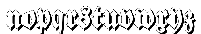 Walbaum-Fraktur Shadow Bold Font LOWERCASE