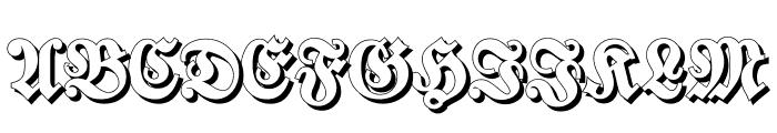 Walbaum-Fraktur-ShadowBold Font UPPERCASE