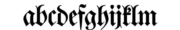 Walbaum-Fraktur Font LOWERCASE